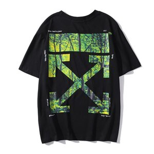 2020SS spring and summer new OFF 20SS WHITE limited forest printing street hip-hop men's casual short-sleeved T-shirt