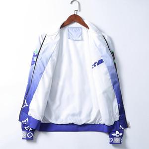 Men's Jacket Long Sleeve Zipper Jacket Fashion Pattern Print Slim Men's Autumn and Winter Outdoor Wear Coat