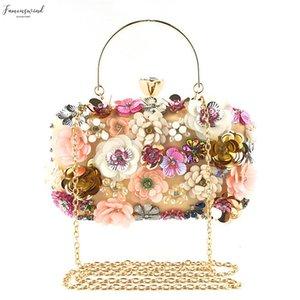 Handbags Floral Fashion Women Bags Designer Flower Decoration Clutches Evening Crossbody Bags Party Fashion M7