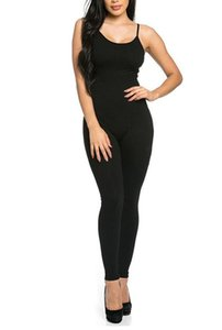 Long Jumpsuit for Women Summer Round Neck Sleeveless Jumpsuits Sexy Backless Sportswear Slim Solid Color bodycon Jumpsuits