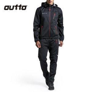 Kış Termal Windproof Fleece Bisiklet Giyim Erkek Jersey Suit Spor Açık Suya Binme Bisiklet Pantolon Sıcak Bisiklet Setleri