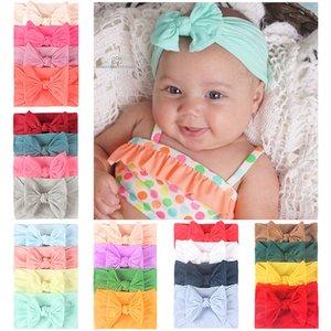 4 PCs suave nylon súper banda de pelo combinación elástico 4 color de la correa pelo del bebé mixto