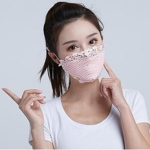 Горячая продажа Летнего Открытого Спорт Мода Тонкая маски для лица Anti-пыль езда Lace дышащих моющейся Маски Анти-ультрафиолетовой маски
