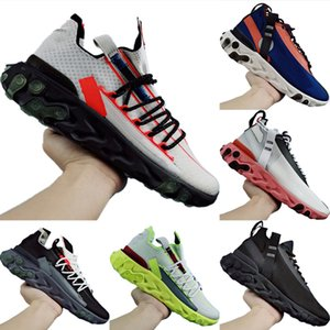 With Box 2020 React ISPA Stretch Knit Breathable Running Shoes Original Undercover Mid React ISPA React Buffer Rubber Jogging Shoes