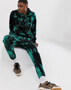 Lässige Kleidung Männer 3D Digital Print Männer Designer Tracksuits Mode-Druck-Langarm-lange Hosen der Männer 2PCS Sets