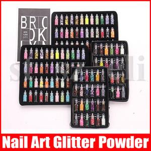 Mini bouteille Glitter Nail Art poudre poussière Astuce strass manucure outils de beauté Accessoires Décorations 24pcs de 12pcs de