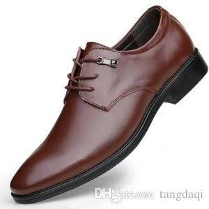 Tide Herrenschuhe Breathable Business-Schuhe Herren Lederschuhe Sharp Kopf Pure Color