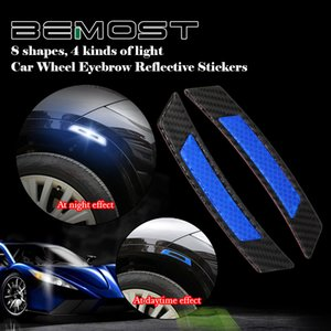 BEMOST ruote riflettente sopracciglio Rim auto Avvertenza Striscia Adesivi di protezione per Mitsubishi Outlander Grandis ASX Lancer Colt L200