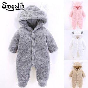 Tuta neonata Coral Fleece warm Baby boy abbigliamento invernale Animal bear Tuta intera per bambini unisex tutina per ragazze tutinaMX190912