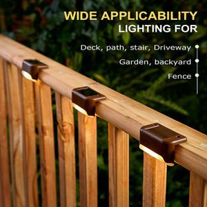 Quintal Solar Cerca lâmpada plástico Escadas de Luz Varanda LED impermeável Iluminação Festa de Jardim Luzes Decoração