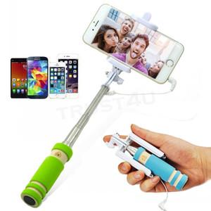 NOVO dobrável Super Mini Wired selfie vara Handheld extensível Monopod com fio obturador Handle Compatível com telefone celular