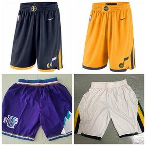 UtahJazzMen 2019 20 StatementEdition Swingman Jersey Basketball Shorts Gold