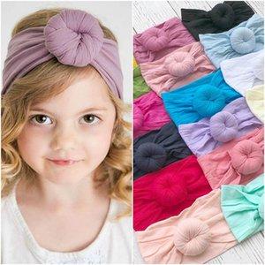 детские мальчики девочки нейлоновая повязка на голову супер мягкий круглый шар тюрбан Богемия стиль аксессуары для волос дети детские ленты для волос