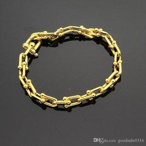 Hot brand u-type titanium steel bracelet 18K gold rose silver bracelet with advanced gift set suitable for gifts
