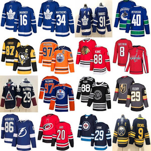 Toronto Maple Leafs Hockey Jersey Chicago Blackhawks Vancouver Canucks 40 Pettersson Edmonton Oilers 97 McDavid Vegas Golden Knights Fleury