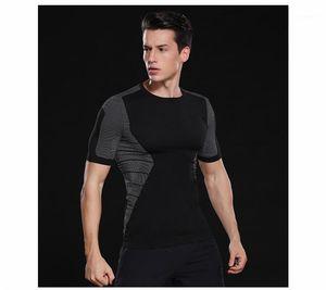 Outdoor Running Mens Clothing Designer Mens Sport Tshirts O Neck Short Sleeved Panelled Breathable Tees Summer