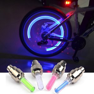 Bicycle Firefly gas nozzle lights Spoke LED Wheel Valve Stem Cap Tire Motion Neon Light Lamp For Bike Bicycle Car Motorcycle Lamp