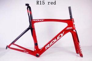 Ridley Red Carbon Road Chrames UD Bicycle Frameset Struck Seatpost Heads Clip 49 sm, 52cm, 54cm, 56cm, 58cm