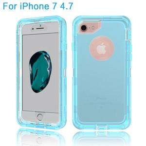 Transparente Caso Heavy Duty Defender Shock Absorção Crystal Clear Case Para iphone 5 5s 5se 6 6 s 7 8 plus samsung nota 8 9 s7 s7 edge