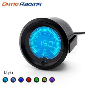 """2"""" (52mm) EVO LCD 7 colori a olio auto calibro della temperatura 50-150 gradi Celsius Oli tester di temperatura con sensore TT100112"""