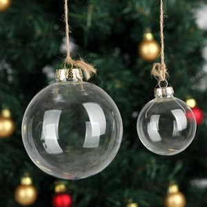 48pcs Christmas Decorations Blowing Balls Transparent Hollow Clear Glass Ball Tree Party Ornament Reusable Creative With Different Size