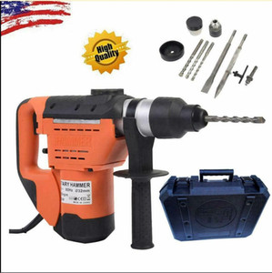 "1-1 2"" SDS Electric Rotary Hammer Drill Plus Demolition Variable Speed w Bits US"