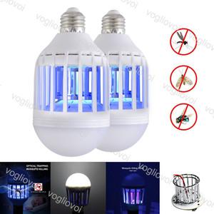 Ampoules LED Mosquito tueur 110V 220 V 12W Pour Hall d'entrée Balcon Cuisine Chambre UV Piège en plastique PC couverture haute luminosité SMD2835 EUB