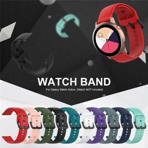 Spor Silikon Watch Band Samsung Galaxy İzle Aktif Bant için Galaxy 42mm Kayış Klasik S2 Spor 20mm Hızlı Yayın İzle Band Kayışı