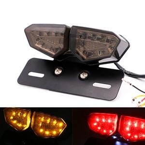 Motosiklet Arka Lambası 12 V LED Dönüş Sinyali Arka Fren Lambaları Motokros Plaka Işık Flaşör için Özel Motosiklet