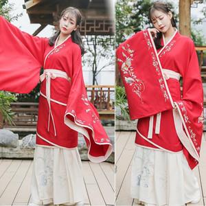중국 전통 의복 매일 중국어 의류 적십자 목 대형 소매 가을 잔치 행사 성능 무대 코스프레 의상 목화로 만든
