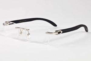 2019 marca occhiali da sole cat eye buffalo corno occhiali oro argento montature per occhiali lenti chiare vintage mens occhiali da sole firmati con custodia