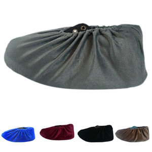 New Design 5 Pairs Solid Washable Overshoes Non-slip Shoe Covers For Home Suede Protect Shoe Cover