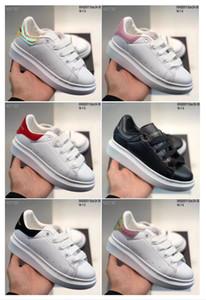 2020 Velvet Kinderschuhe Schuhe Plattform-beiläufige Schuh-Designer-Schuh-Leder Weiß McQueen enfants