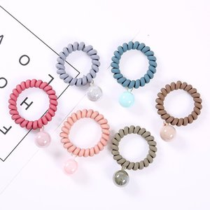 Fashion Multicolor Elastic Hair Bands Spiral Shape Ponytail Hair Ties Gum Rubber Band Rope Telephone Wire Accessories