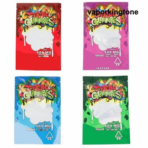 New Arrival Maylar bag Dank Gummies Zipper Bag Dry Tobacco Retail Bag Gummy candy mylar bags 500mg Packaging bags