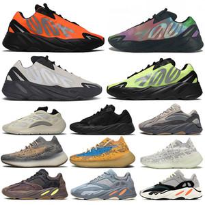 Kanye West 700 700s 380 Teal Mavi Hastane Mavi Mıknatıs 700 erkek Atalet Vanta 700s Statik Kadınlar Dalga Runner leylak 5-12 sneakers Koşu Ayakkabıları