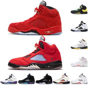 Hot New 5 5s Wings International Flight Mens Basketball Shoes Red Blue Suede White Black Grape Jumpman Men Sports Sneakers Trainers