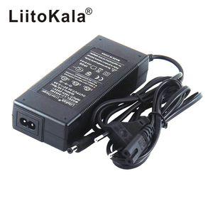 HK LiitoKala 48V 2A carregador 13S 18650 bateria carregador 54.6v 2a constante pressão constante atual está cheio de auto-stop