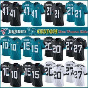 41 Josh Allen JacksonvilleJaguarsFutebol camisas personalizadas miúdos das mulheres dos 20 Jalen Ramsey 15 Gardner Minshew II 27 Leonard Fournett