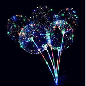 LED Lights Balloons Night Lighting Bobo Ball Multicolor Decoration Balloon Wedding Party Decoration Bright Lighter Balloons With Stick