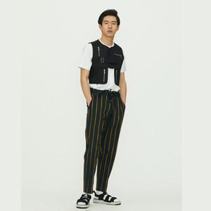 Personalizado 2019 nueva personalidad de la manera de los hombres delgados de verano Multi-cremallera chaleco más el tamaño de la cantante trajes S-5XL