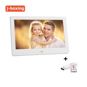 إطارات الصور الرقمية 10inch لشاشة LED الخلفية HD إطار الصورة الرقمية الالكترونية ألبوم صور اغاني فيلم كاملة وظيفة هدية جيدة