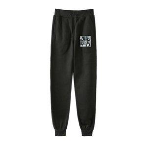 Мужчины Женщины моды Printed KAI Супер Kpop Hip Hop шаровары Street Style Casual Male Female Long Сыпучие Pant Брюки Спортивная одежда