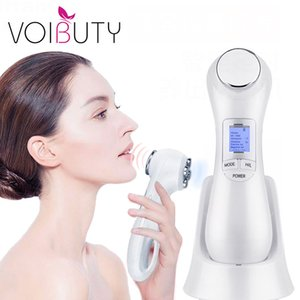 5 em 1 LED RF Photon Terapia Facial Skin Lifting Rejuvenescimento Vibration dispositivo máquina EMS Ion Microcurrent Mesoterapia Massager