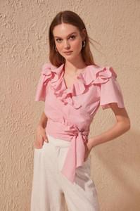 Blusas de mujer Camisetas Trendyol Flounces Bluz Twoss20BZ0351