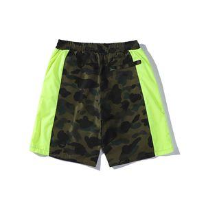 2020 Sommer-japanische Tide Liebhaber Camo Fluorescent Gürtel Shorts Hosen Teenager Lässige Hip Hop Shorts PantsJhtide