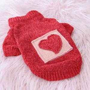 Winter Dog Sweater Pets Clothing for Dogs Costume Warm Puppy Dog Clothes Heart Embroidery Puppy Clothes Ropa Perro Chihuahua Pug