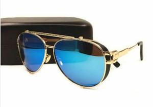 Dama de mujer Diseño de gafas UV400 Gafas de sol redondas Película de color HOMBRES polarizados Gafas de sol Diseño de logotipo de la marca Gafas de conducción Gafas Oculos