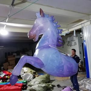 Outdoor Parade Props Performance marche gonflable cheval Costume 3m adulte Wearable Soufflez Costumes Mascotte Up animaux Zèbre pour des événements de vacances