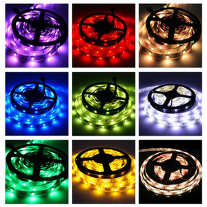 Epacket Su Geçirmez Aydınlatma 300LED SMD 3528 5050 RGB Esnek LED Şerit Işıkları 120 Derekler + 24key 44key IR Uzaktan + 12 V 2A 5A 6A Güç Kaynağı